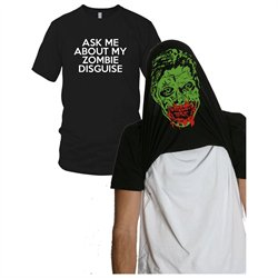 Youth Ask Me About my Zombie Diguise Funny Flip-Up t Shirt for kids