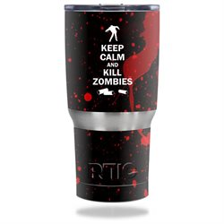 MightySkins Protective Vinyl Skin Decal for RTIC Tumbler 20 oz wrap cover sticker skins Kill Zombies