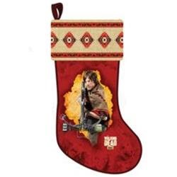 19 The Walking Dead Daryl Red Printed Plush Christmas Stocking
