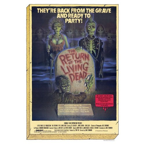 The Return of the Living Dead Poster Movie 27 x 40 In - 69cm x 102cm Clu Gulager James Karen Linnea Quigley Don Calfa Jewel Shepard Beverly Randolph