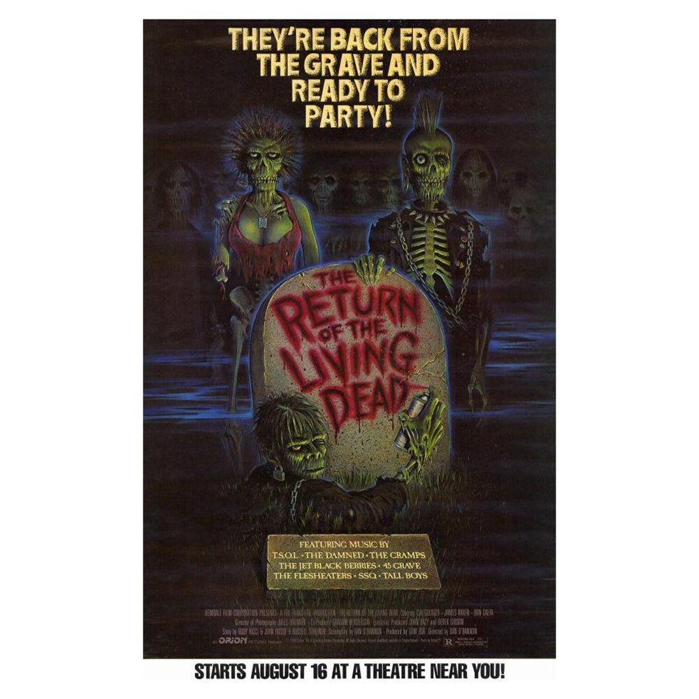 The Return of the Living Dead Poster Movie B 11 x 17 In - 28cm x 44cm Clu Gulager James Karen Linnea Quigley Don Calfa Jewel Shepard Beverly Randolph