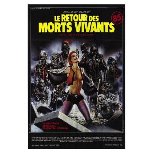 The Return of the Living Dead Poster Movie C 27 x 40 In - 69cm x 102cm Clu Gulager James Karen Linnea Quigley Don Calfa Jewel Shepard Beverly Randolph