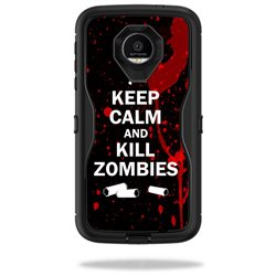 MightySkins Protective Vinyl Skin Decal for OtterBox Defender Moto Z Force Droid Case wrap cover sticker skins Kill Zombies