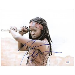 Danai Gurira The Walking Dead Signed Authentic 11X14 Photo PSA/DNA #W79808