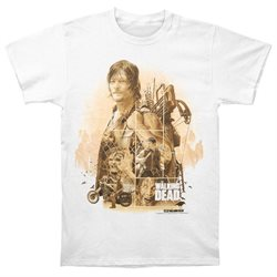 Walking Dead Men's Daryl T-shirt XXX-Large White