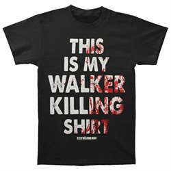 Walking Dead Men's Walker Killing T-shirt Medium Black