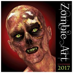 Zombie Art Wall Calendar by Flame Tree Publishing