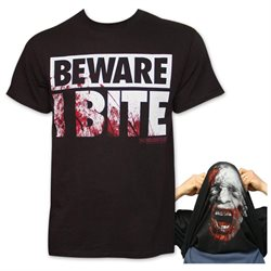 The Walking Dead I Bite Flip-Up Reversible TShirt - Black