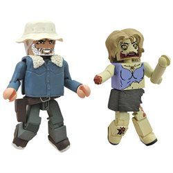 Walking Dead Winter Dale and Zombie Mini Figures
