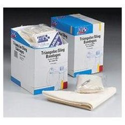 36 x 36 x 51 Inch Triangular Sling / Bandage - with 2 Safety Pins - 20 Per Dispenser Box