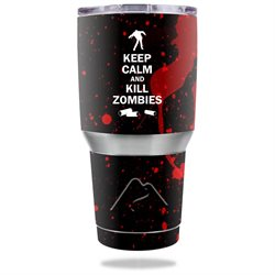 MightySkins Protective Vinyl Skin Decal for Ozark Trail 30 oz Tumbler wrap cover sticker skins Kill Zombies