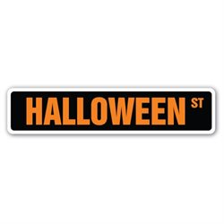 HALLOWEEN Street Sign holiday death costumes dressup zombies monsters gift