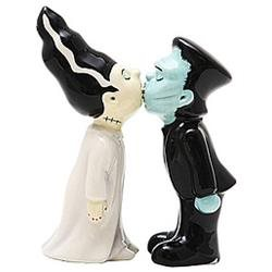 Zombie Monster And Bride Kissing Magnetic Salt and Pepper Shaker Set