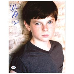 Chandler Riggs The Walking Dead Authentic Signed 11X14 Photo PSA/DNA #W80733