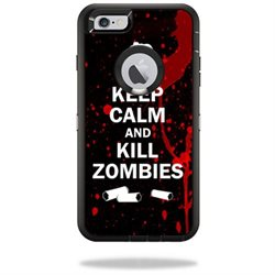 MightySkins Protective Vinyl Skin Decal Cover for OtterBox Defender iPhone 6/6S Plus Case Cover Sticker Skins Kill Zombies
