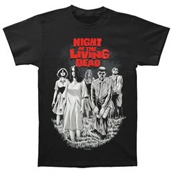 Night Of The Living Dead Men's Bloodthirsty T-shirt Small Black