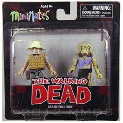 Diamond Select Toys Walking Dead Dale and Female Zombie, 2-Pack