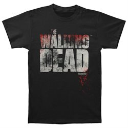 Walking Dead Men's Splatter T-shirt X-Large Black