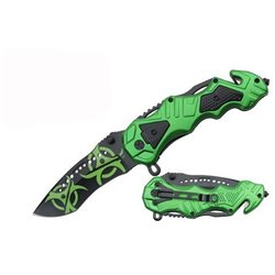 Wartech Tactical Survival Pocket Knife - Zombie