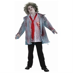 Zombie Boy Costume Child Medium 8-10