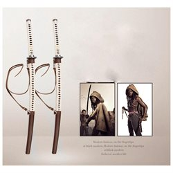 XCOSER The Walking Dead Sword Michonne's Katana Zombie Killer Wood Blade COSplay Props Halloween Accessories