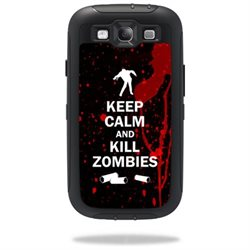Mightyskins Protective Vinyl Skin Decal Cover for OtterBox Defender Samsung Galaxy S III S3 Case wrap sticker skins Kill Zombies