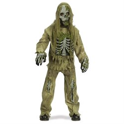 Skeleton Zombie Teen Halloween Costume