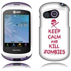 Pantech Swift P6020 Hard Case Cover - Keep Calm and Kill Zombies