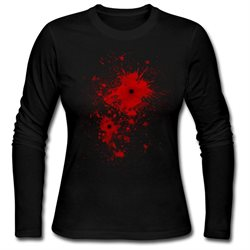 Blood Stain, Splatter, Bullet Wound - Costume Women's Long Sleeve Shirt by Spreadshirt™