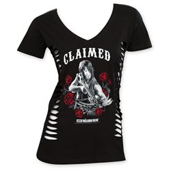 The Walking Dead V-Neck Women's Claimed Tee Shirt