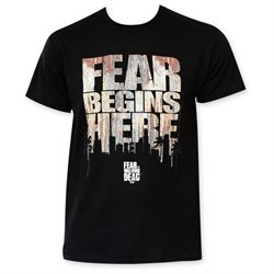 Fear The Walking Dead Fear Begins Here Tee Shirt