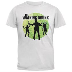St. Patricks Day - The Walking Drunk White Adult T-Shirt