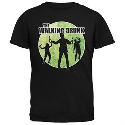 St. Patricks Day - The Walking Drunk Black Adult T-Shirt
