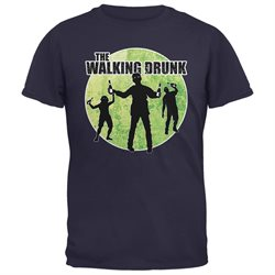 St. Patricks Day - The Walking Drunk Navy Adult T-Shirt
