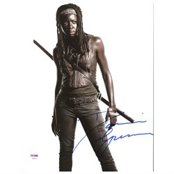 Danai Gurira The Walking Dead Authentic Signed 11X14 Photo PSA/DNA #Z90220