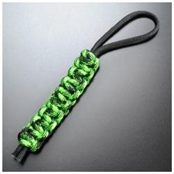 Knotty Boys L000 Zombie Lanyard with Neon Green & Black Hand Tied Parachute Cord Construction KYL000