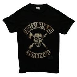 The Walking Dead Survivor Mens Black Tee 0911XL