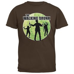 St. Patricks Day - The Walking Drunk Brown Adult T-Shirt