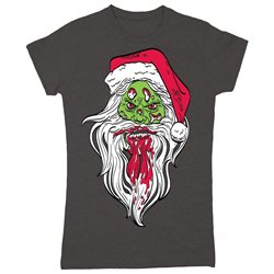 Zombie Santa Claus Christmas Holiday Funny Nerd Party Cool Tee - Womens T-Shirt