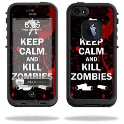 Mightyskins Protective Vinyl Skin Decal Cover for LifeProof iPhone 5/5s/SE Case fre Case wrap sticker skins Kill Zombies