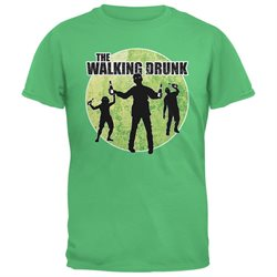 St. Patricks Day - The Walking Drunk Irish Green Adult T-Shirt