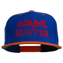 Halloween Zombie Hunter Embroidered Snapback Cap W43S66A