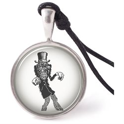 Vietsbay's Hellish Zombie Necklace Pendants Pewter Silver
