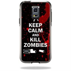 Mightyskins Protective Vinyl Skin Decal Cover for OtterBox Symmetry Samsung Galaxy S5 Mini Cover wrap sticker skins Kill Zombies