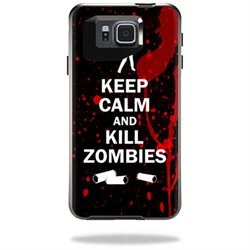 Mightyskins Protective Vinyl Skin Decal Cover for OtterBox Symmetry Samsung Galaxy Alpha Cover wrap sticker skins Kill Zombies