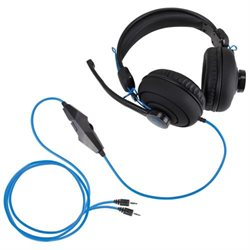 Enhance ENGXH30100BKEW Headset - Stereo - Black - Mini-phone - Wired - 20 Hz - 20 MHz - Over-the-head - Binaural - Circumaural - 8.66 ft Cable