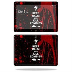Mightyskins Protective Vinyl Skin Decal Cover for Samsung Galaxy Note Pro 12.2 P900 Tablet skins wrap sticker skins Kill Zombies