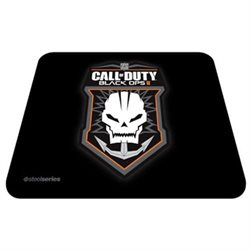 SteelSeries QcK Mouse Pad - Call of Duty Black Ops II Badge Logo - 0.1 x 12.6 Dimension - Black - Rubber, Cloth
