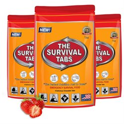Survival Tabs 1-day food Supply - Survival Bugout Emergency Food Replacement - Butterscotch Flavor (3 pouches X 4 tablets = 12 tablets)