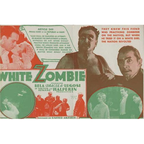 White Zombie Poster Movie B 27 x 40 In - 69cm x 102cm Bela Lugosi Madge Bellamy Joseph Cawthorn Robert Frazer